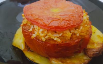 Pomodori con riso e patate
